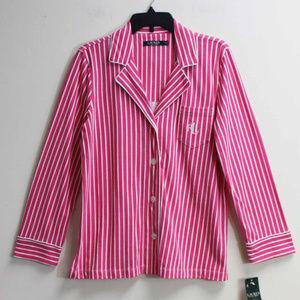 NWOT Ralph Lauren Womens Striped Sleep Night Shirt